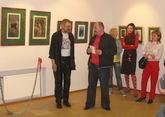 Открытие юбилейной персональной выставки Виктора Кобзева в «Центре книги и графики» (СПб, 07.05.2007)