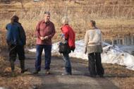 Проведено весеннее обследование ООПТ « Озеро Вероярви », намечены места установки информационных щитов, зафиксированы проблемные точки