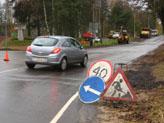 Ремонт дорожного покрытия и прокладка газопровода на Привокзальной улице в Токсово (октябрь 2008 г.)