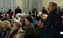 В пятницу (28.01.2011) в Токсово прошло собрание жителей поселка по вопросу изменения границ природного парка на берегу Кривого озера (Вероярви)