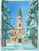 20 лет назад Токсовская лютеранская церковь была освящена после окончания реставрации и распахнула свои двери для прихожан (декабрь 2014)