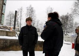Токсовская станционная водонапорной башня на Привокзальной площади признана памятником, но незаконные строительные работы фонда Токсовская перспектива продолжаются ( © www.toksov.spb.ru)