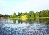 Установлен первый информационный щит на границе природного парка на озере Вероярви (25.06.2011)